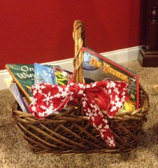 My winter book basket