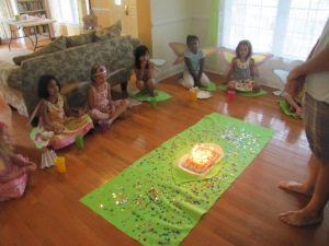 A Rainbow Fairy birthday party we threw for my eldest.